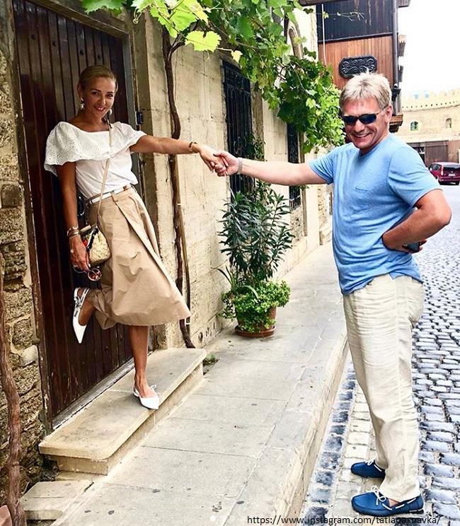 Татьяна Навка с мужем