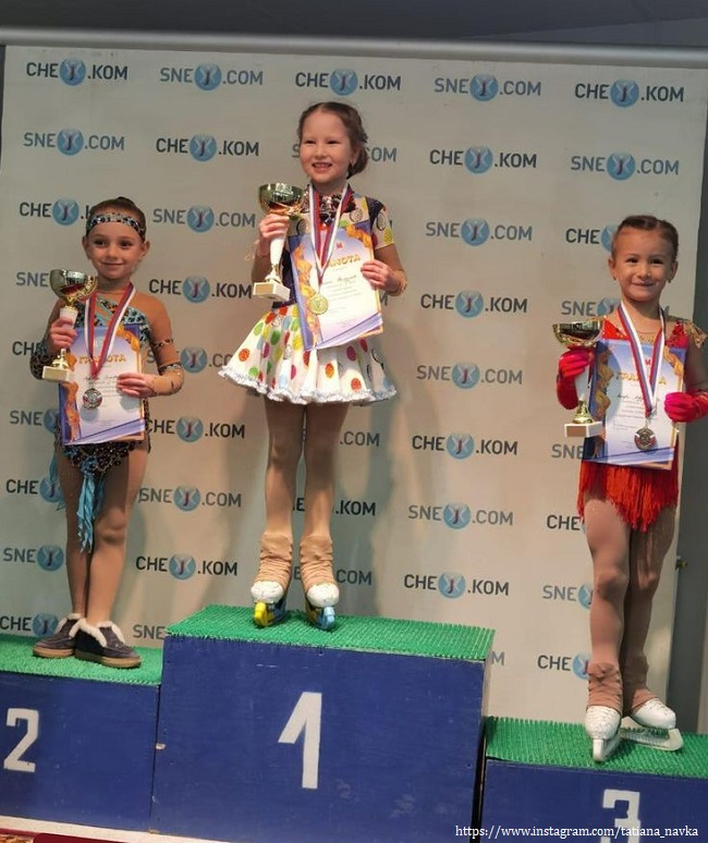 Дочь Татьяны Навки заняла второе место