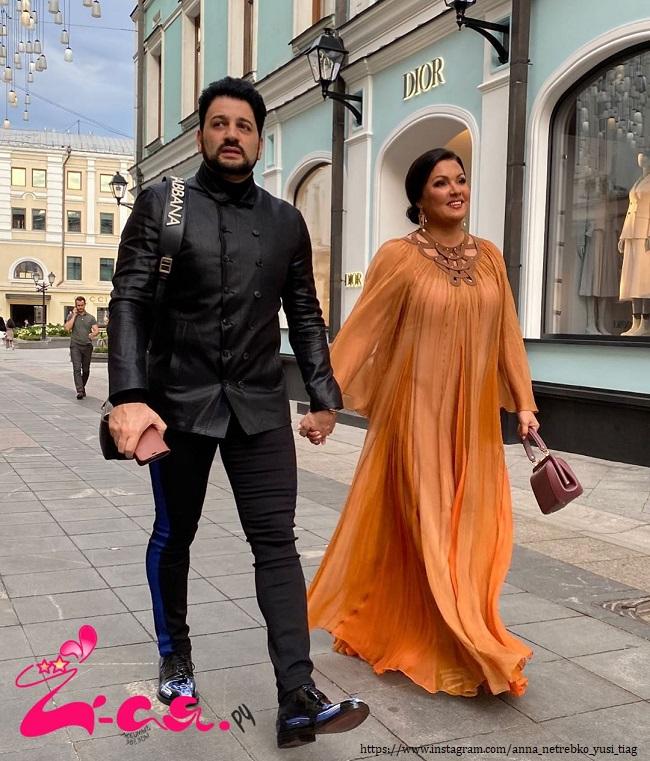 Анна Нетребеко с мужем