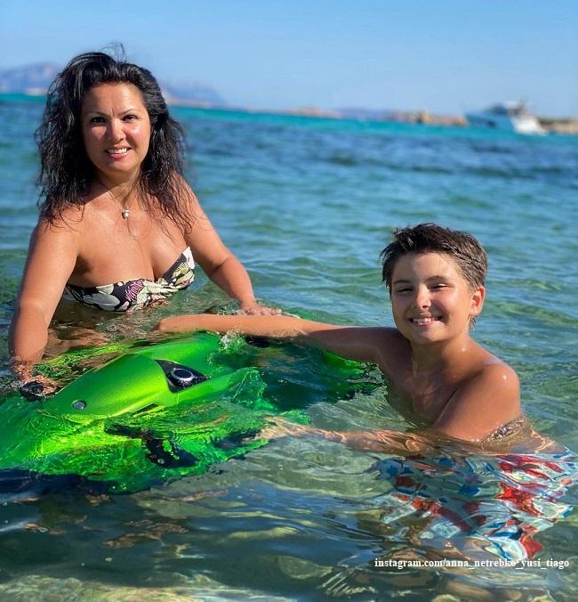 Анна Нетребко с сыном Тиаго