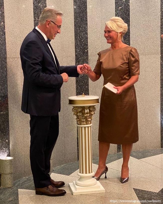 Андрей Норкин с новой женой