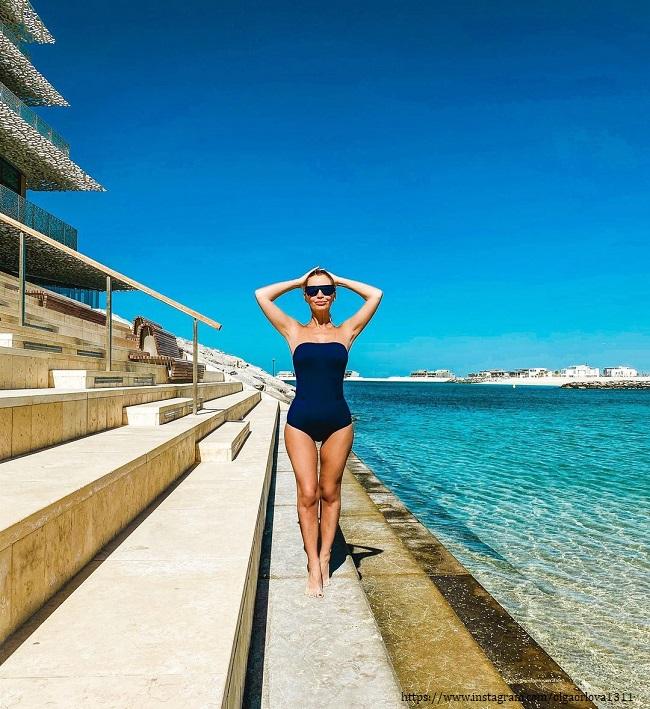 Olga Orlova in a swimsuit