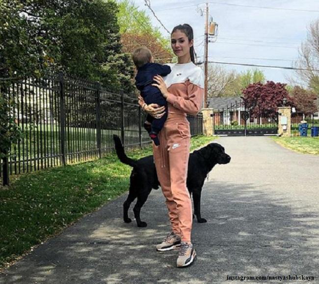 Анастасия Шубская с сыном Сережей