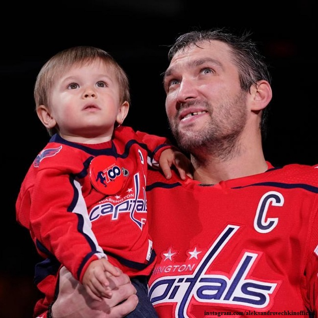 Alexander Ovechkin's wife showed the eldest son's training