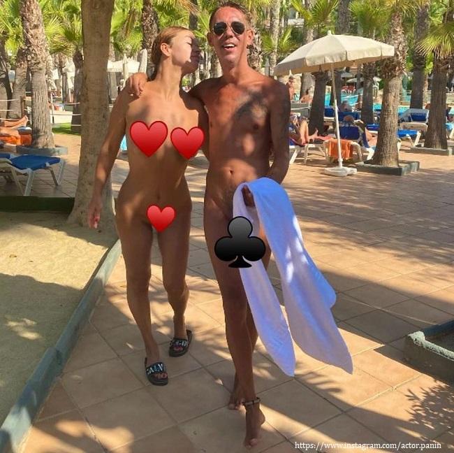 Обнаженный Алексей Панин с женой