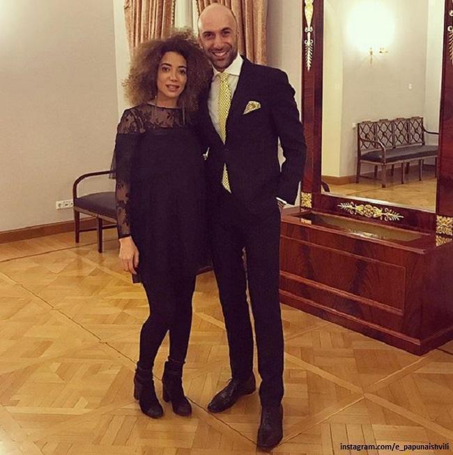Evgeny Papunaishvili with his wife