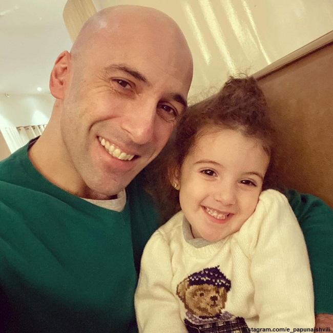 Евгений Папунаишвили с дочерью Софией