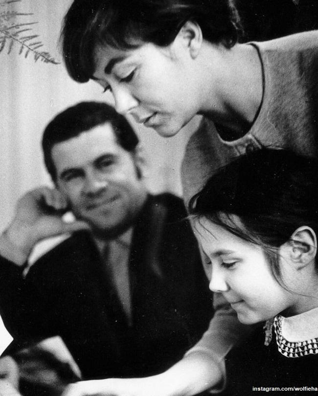 Александр Броневицкий и Эдита Пьеха с дочерью Илоной