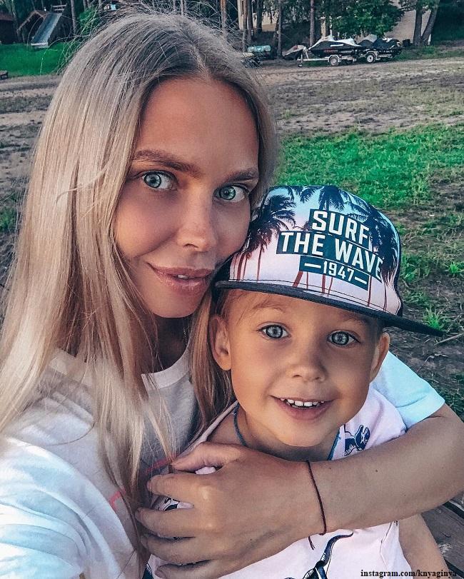 Наталья Горчакова с сыном Петром