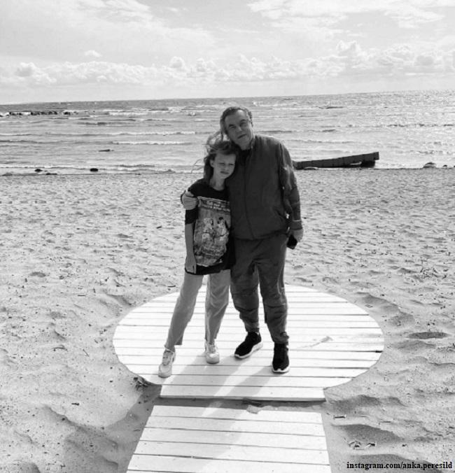 Алексей Учитель с дочерью Анной