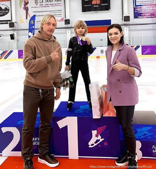 Евгейний Плющенко с сыном