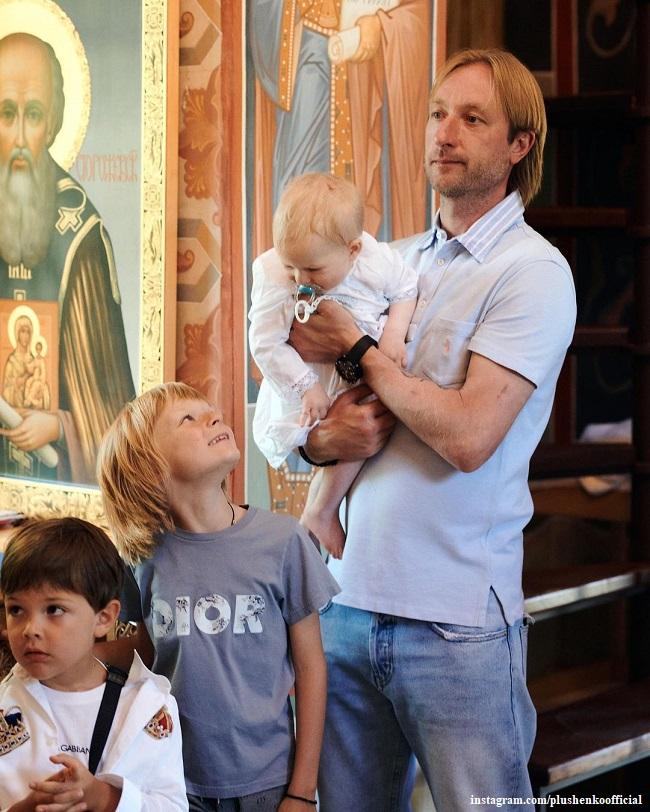 Евгений Плющенко с сыновьями