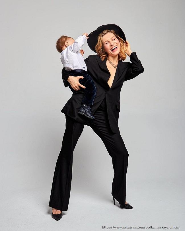 Елена Подкаминская с сыном