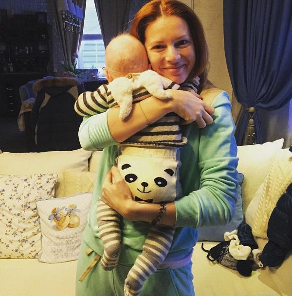 Наталья Подольская с сыном