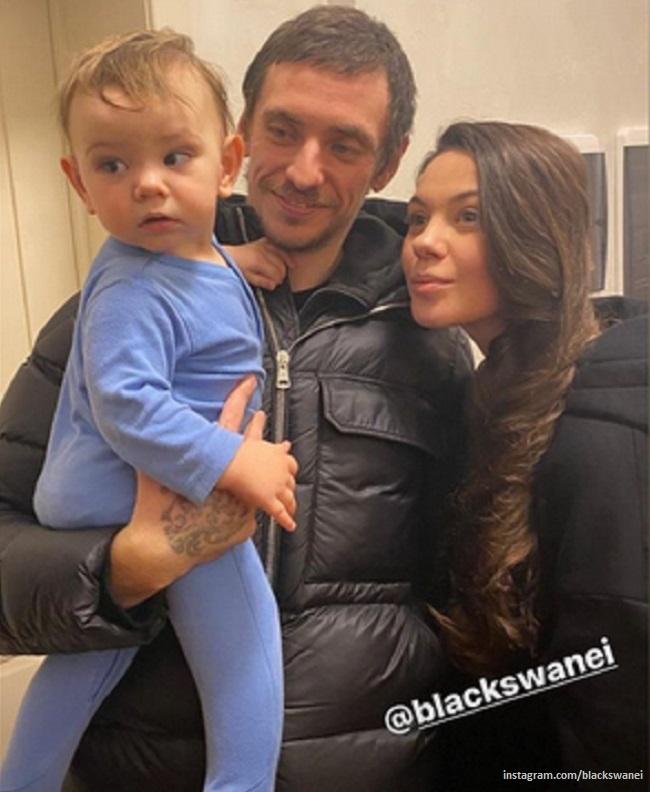 Сергей Полунин с женой и сыном