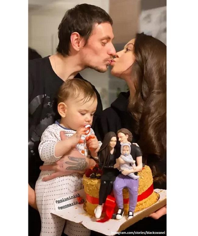 Сергей Полунин и Елена Ильиных с сыном Миром