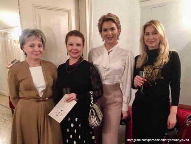 Мария Порошина с подругами в Большом Театре