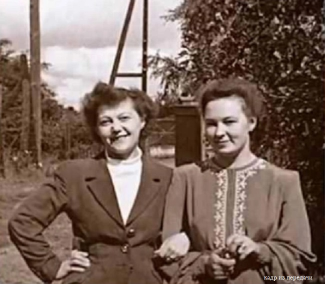 Слева мама Владимира Познера, а справа его девшука