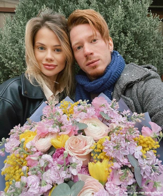 Никита Пресняков с женой