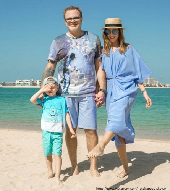 Владимир Пресняков с женой и сыном