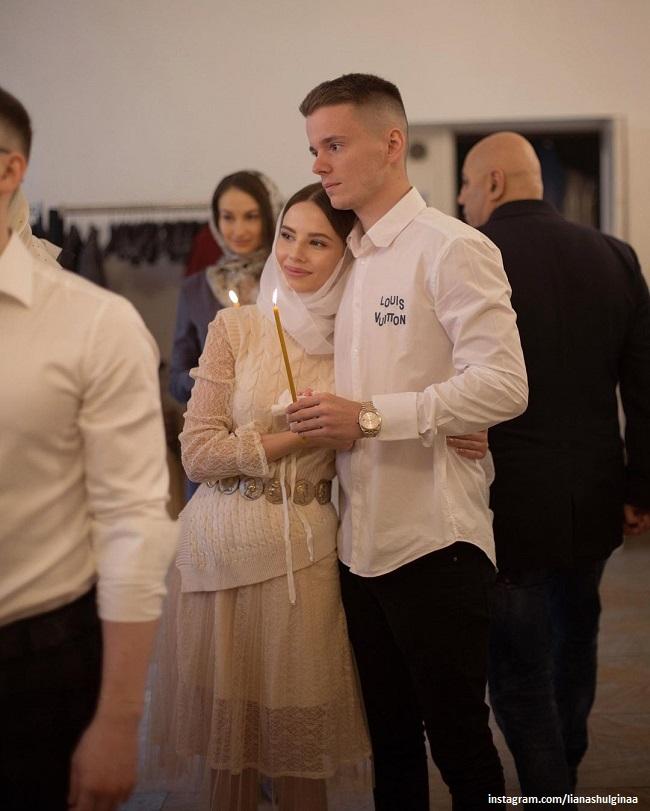 Арсений и Лиана Шульгины в церкви