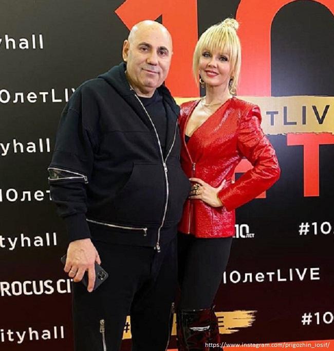 Иосиф Пригожин с женой
