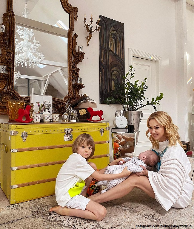 Yana Rudkovskaya with her younger sons