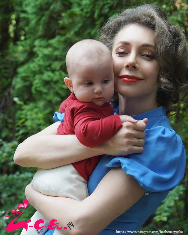 Bozena Rynska with her baby daughter fell ill with COVID 19