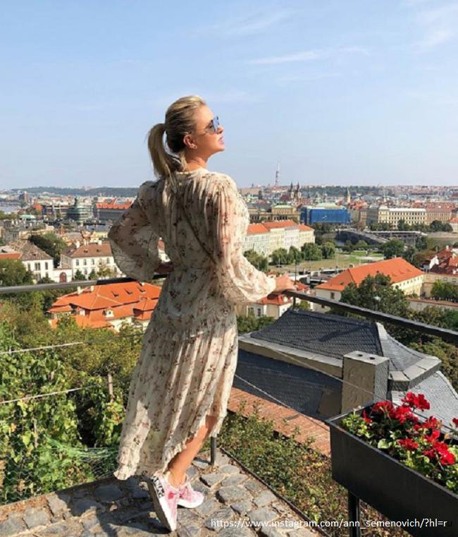 Семенович отдыхает в Праге