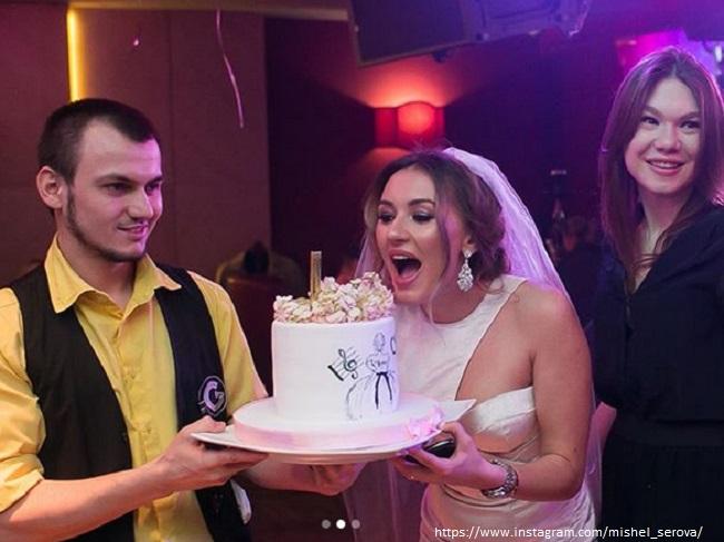 Свадебный торт Мишель Серовой