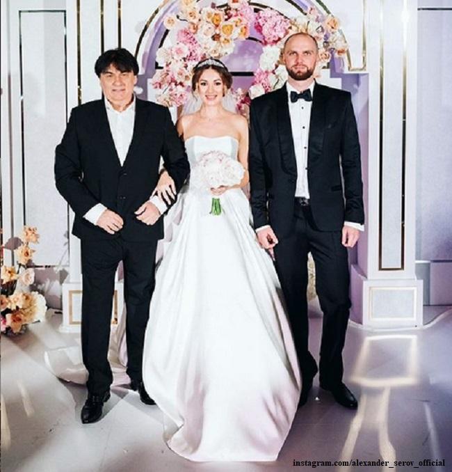 Александр Серов с дочерью Мишель и ее мужем