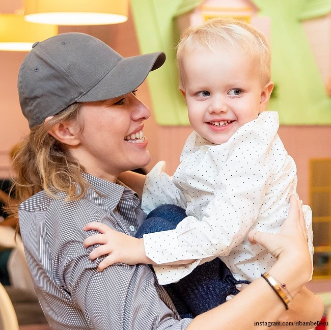 Ksenia Sobchak first brought her son to the Bolshoi Theater