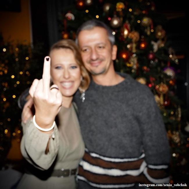Ksenia Sobchak with her husband