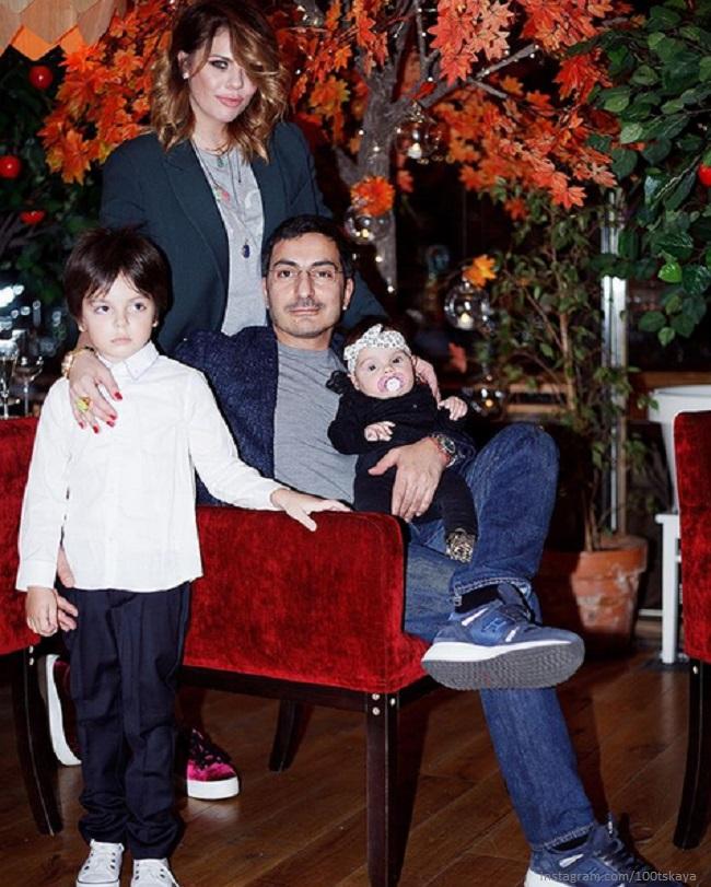 Анастасия Стоцкая и Сергей Абгарян с детьми