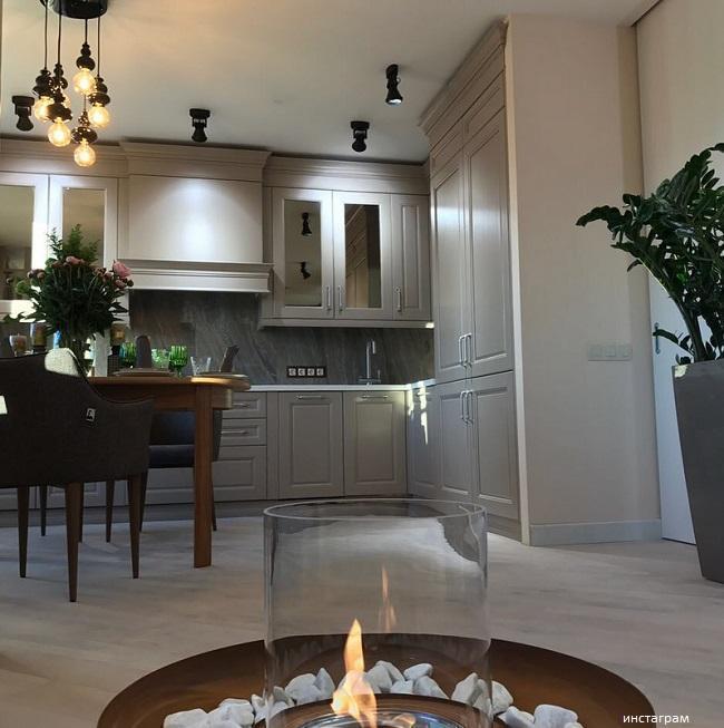 Кухня с камином фото идеальный ремонт