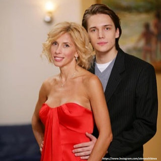 Алена Свиридова со старшим сыном