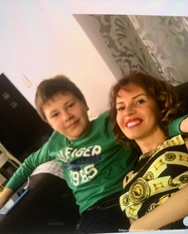 Natalya Sturm with her son
