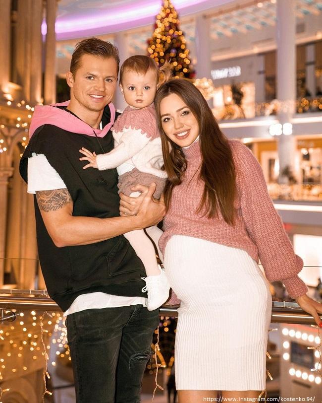 Дмитрий Тарасов с женой и дочкой