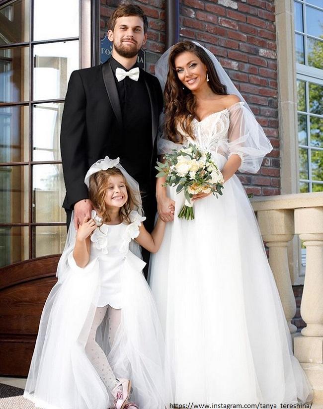 Татьяна Терешина с мужем и дочерью