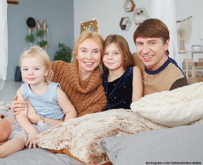 Татьяна Тотьмянина с семьей