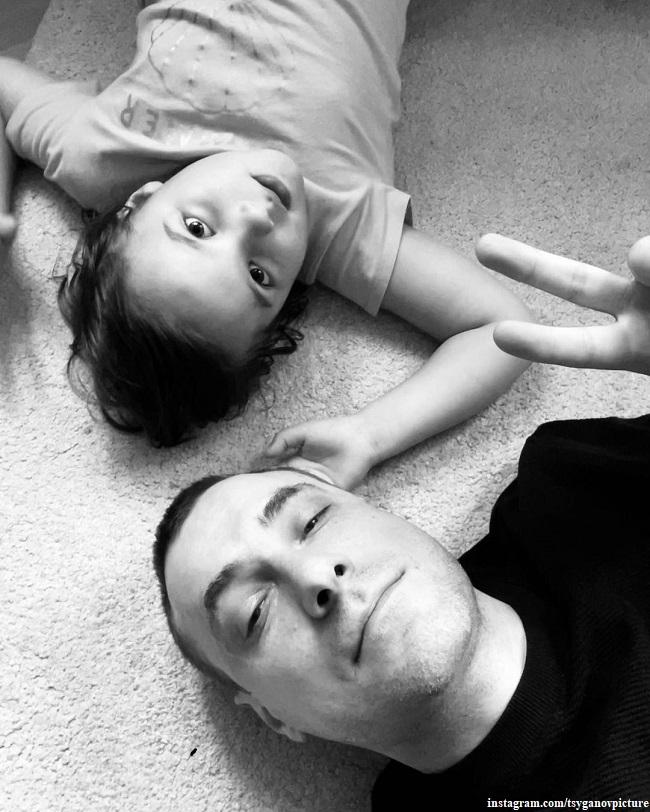 Евгений Цыганов с дочерью Верой