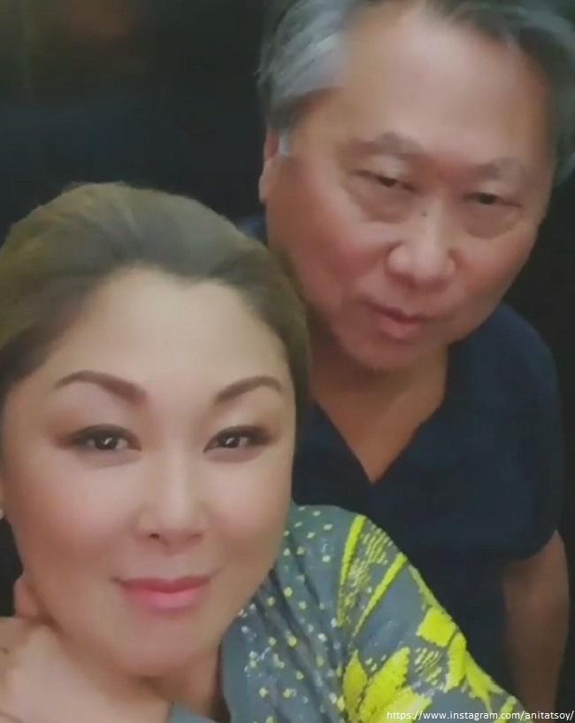 Анита Цой с любимым в лифте