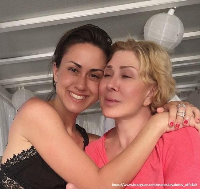Любовь Успенская с дочерью