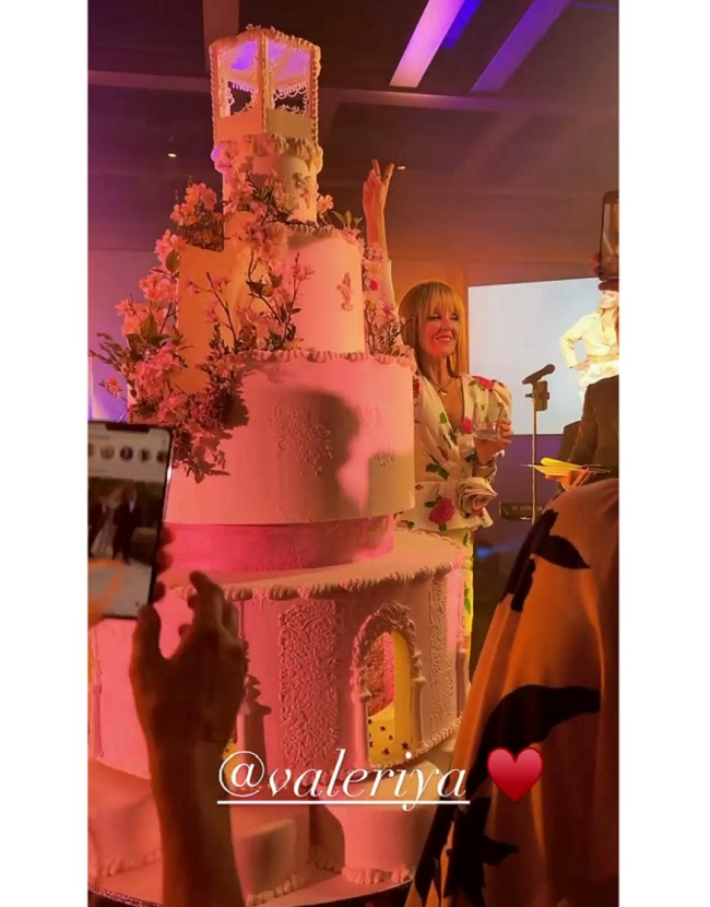 Valeria with a birthday cake