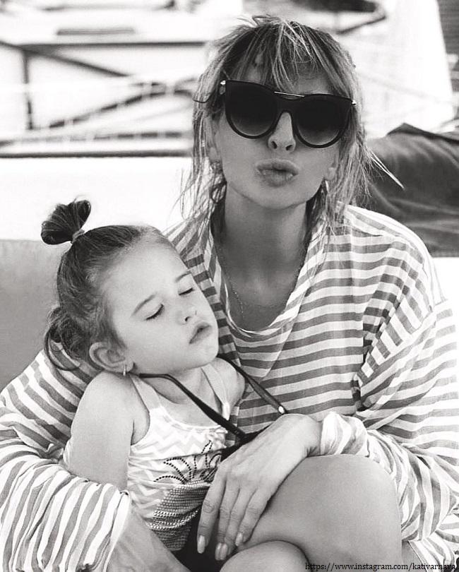 Ekaterina Barnabas with her goddaughter