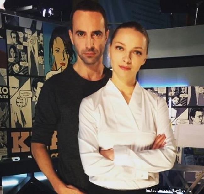 Екатерина Вилкова с мужем