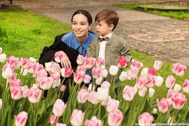 Диана Вишнева с сыном