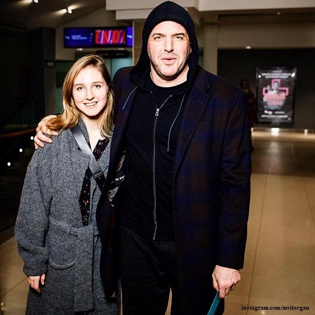 Maxim Vitorgan with his daughter Polina