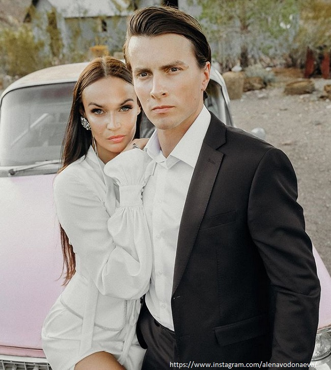 Алена Водонаева с бывшим мужем