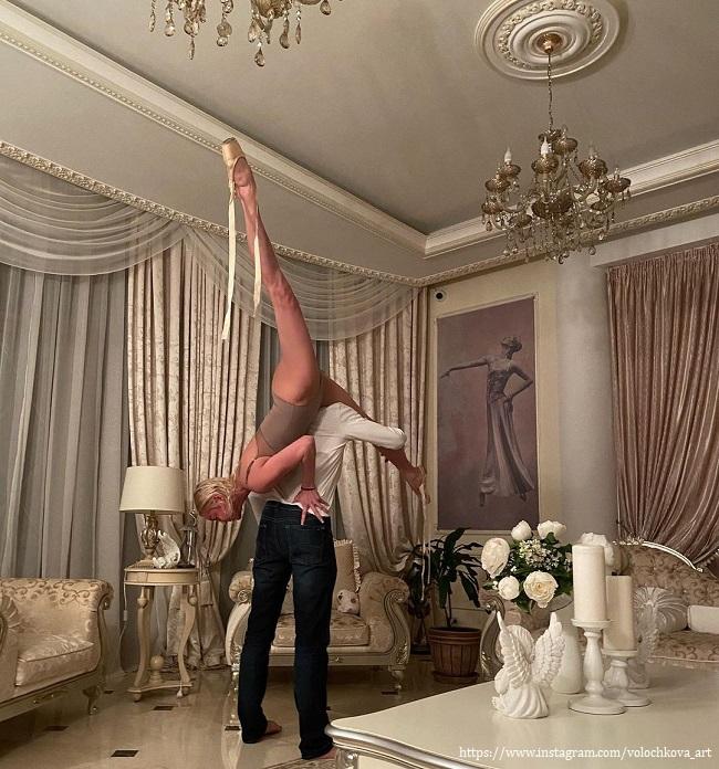 Анастасия Волочкова сделала шпага на возлюбленном